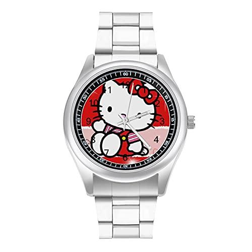 Hello Kitty - Reloj de pulsera con diseño de dibujos animados, diseño de moda y estilo deportivo informal