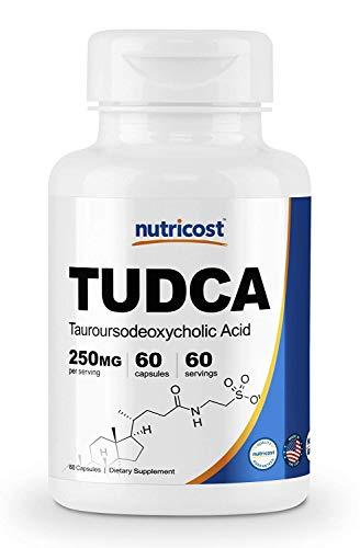 Nutricost Tudca 250 mg 60 gélules (acide tamésodéoxycolique) – Qualité premium