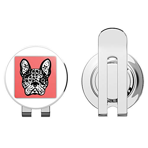 888 Graphics French Bulldog Sugar Skull Golf Hat Clip with Magnetic Ball Marker