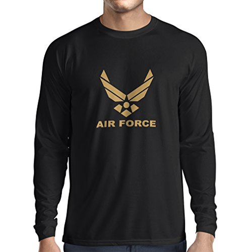 lepni.me Herren T Shirts United States Air Force (USAF) - U. S. Army, USA Armed Forces (X-Large Schwarz Gold)