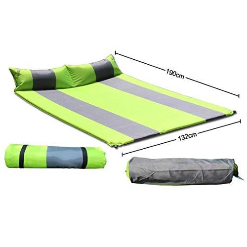 Wangwen Automatisches Aufblasbares Kissen-Doppelmatratze-Auflagen-Verdickungs-im Freien Kampierendes Auflagen-Matten-Zelt Verbreitert (Color : Green)