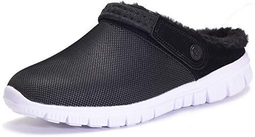 Zuecos Unisex Hombres Mujeres Zapatillas de Estar Invierno casa Cálido Comodidad Suave Invierno Pantuflas Zapatillas Antideslizantes Impermeable