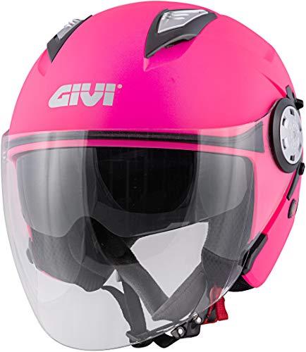 casco moto donna rosa GIVI 12.3 Stratos Solid Color Casco Da donna Jet XS (54)
