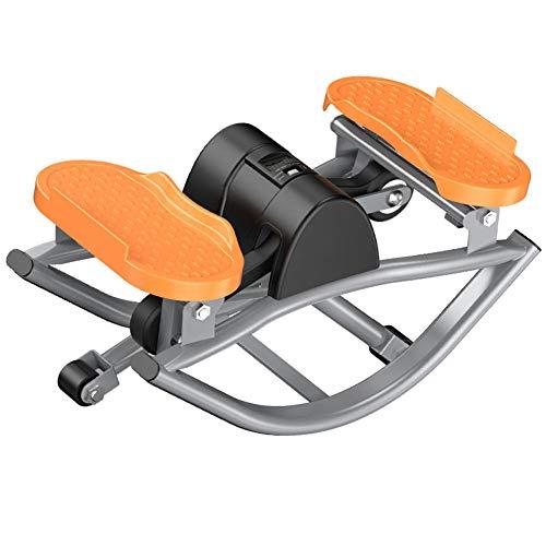 ZKORN Mini Stepper, máquinas de Ejercicio Diseño de Swing Saludable Dispositivo de Entrenamiento con Pedal de Ejercicio Entrenamiento físico Entrenador Sistema de absorción de Impactos