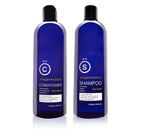K + S Salon Quality Men's Shampoo + Conditioner...