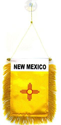AZ FLAG Wimpel New Mexico 15x10cm - Bundesstaat New Mexico Mini Flagge 10 x 15 cm - Auto Pennant spezielle Auto