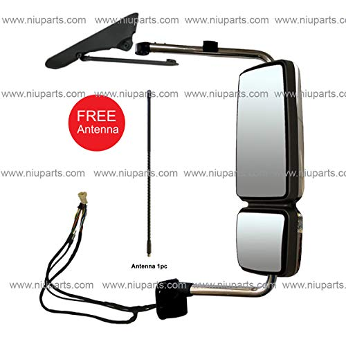 Driver and Passenger Side Fit: International 4300 4400 7400 7600 8500 8600 NIUPARTS Door Mirror with Arm Black