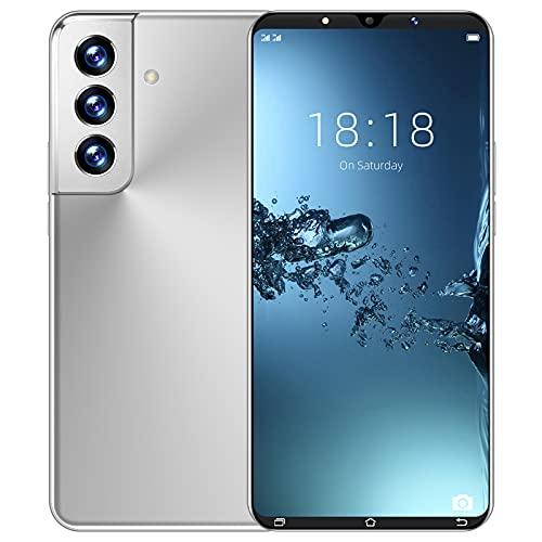 Smart Phone a Basso costo 5.3 Pollici 6 + 128 GB Smart Phone Smart Phone ID 4G Dual Card Phone,Argento
