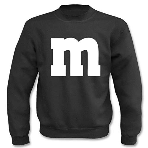 Textilhandel Hering Jersey  M&M Carnaval Grupo, disfraz, fiesta, dardos, unisex Negro M