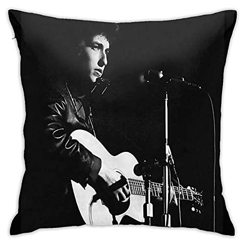 Kissenbezüge Bob Dylan Royal Albert Hall 1965 Alt Kissenbezug Quadrat Kissenbezug Dekoration Bett Schlafzimmer Sofa Stuhl Kissenbezug doppelseitig 45×45 cm