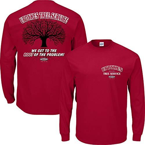 Smack Apparel Alabama Football Fans. Updyke's Tree Service Crimson T-Shirt (S-5X) (Long Sleeve, 3XL)