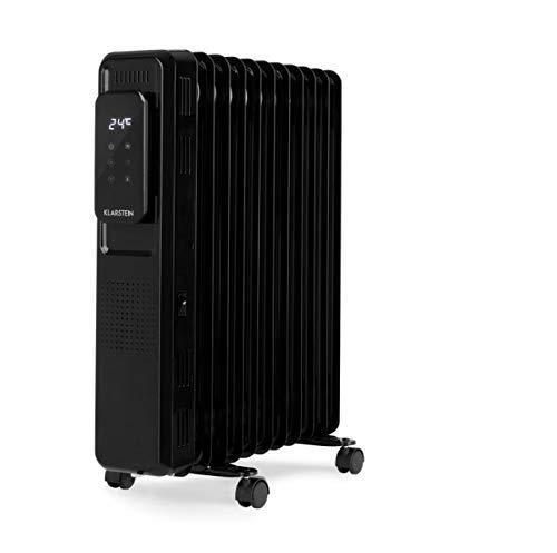 KLARSTEIN Thermaxx Elevate Smart - Radiatore a Olio, Stufa Elettrica, Potenza: 2720 W, Fino a 54 m², Temperature: 7-35 °C, Timer 24h per On-/off, Display Digitale, Pannello Touch, Nero