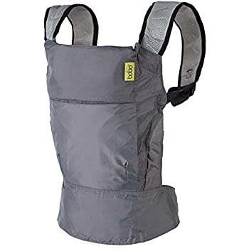 Boba Air Baby Carrier - Grey - Breathable mesh Shoulder Straps, Padded Leg Openings for Extended Support and Comfort.