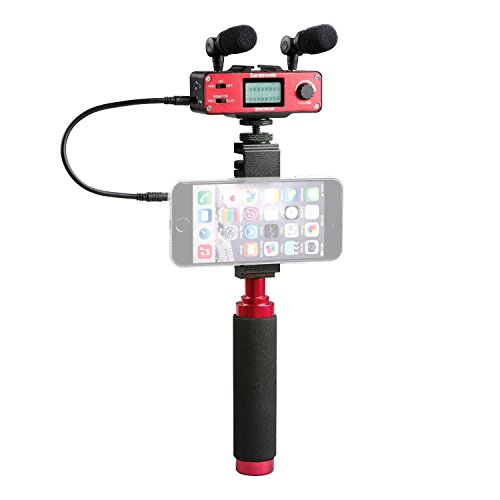 Saramonic SmartMixer Audio Mixer voor iOS en Android Smartphones rood
