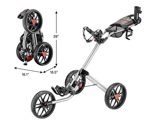 CaddyTek Caddylite 15.3 V2 - Deluxe Quad-Fold Golf Push Cart Version 2,...