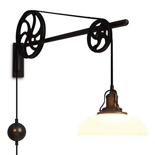DSJ Retro industriële wandlamp Europese stijl woonkamer lamp voeding transmissie telescoop lift lamp