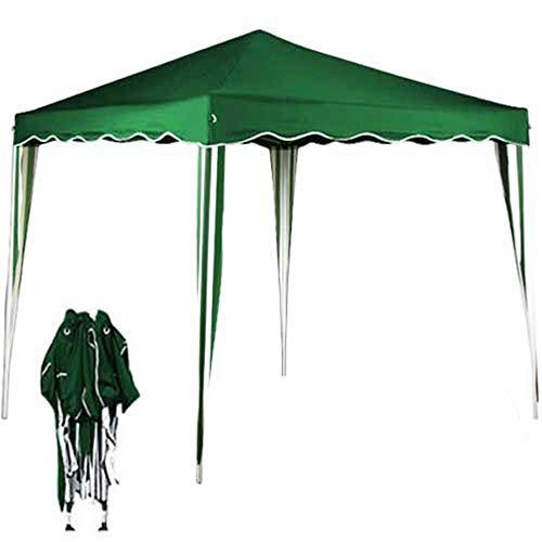 BAKAJI Gazebo 3x3 Mt Pieghevole Impermeabile Richiudibile 3 x 3 Tendone Giardino, Telo Impermeabile, Struttura Metallo Apertura e Chiusura a Fisarmonica, Modello Ischia (Verde)