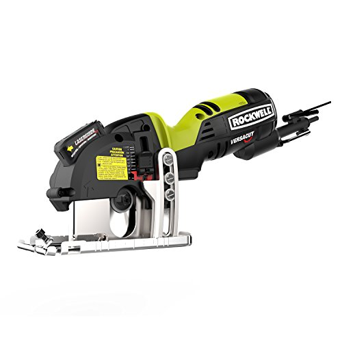 Rockwell Versacut 4.0 Amp Ultra-Compact Circular Saw with Laser Indicator and 3-Blade Kit with Carry Case – RK3440K