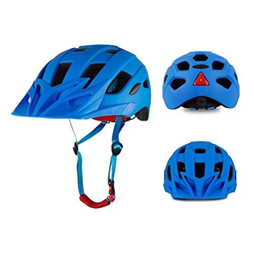Ububiko Casco De Bicicleta Lámpara De 3 Modos para Luz Y Escudo, Unisex Protegido para Andar En Bicicleta Seguridad Aérea Casco De Bicicleta Ajustable Superligero