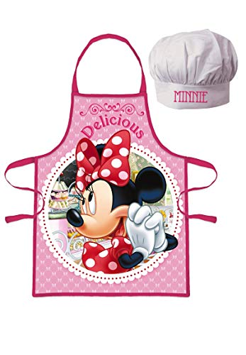 Frozen - Die Eiskönigin Minnie Mouse Chefkoch Geschenk Set 2 TLG. Kochmütze & Kochschürze
