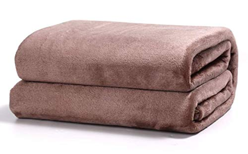 TIENDA EURASIA® Mantas para Sofá de Terciopelo - Material 100% Microfibra - Tacto Suave Sedalina (Marron, 130 X 160 CM)