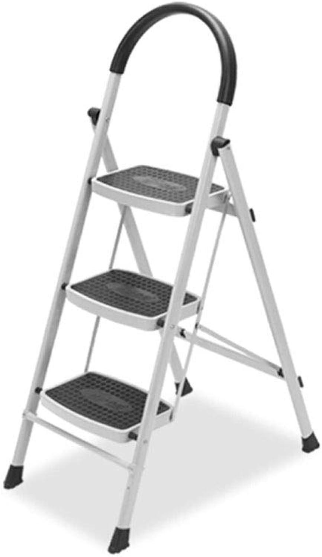 TLTLTD Step Stool, Household Ladder, Three-step Folding Ladder, Indoor Thickening Ladder