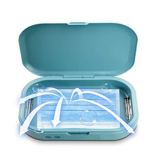 UV-Smartphone-Desinfektionsmittel, Multifunktions-UV-Sterilisator-Box, LED-UV-Desinfektionsbox für alle Handys, Salon-Werkzeuge, Geschirr, Make-up-Pinsel, Zahnbürste oder Schmuck usw.