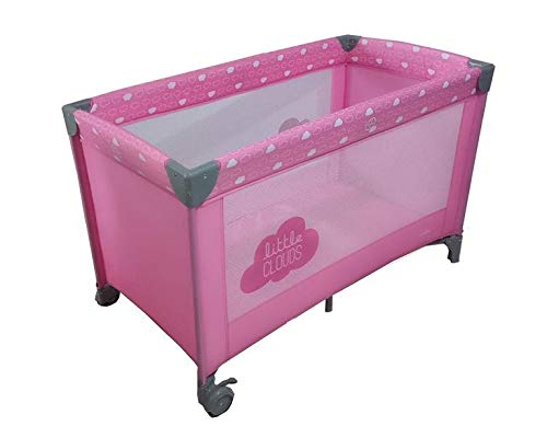 Olmitos - Cuna viaje basic cloud, L, color rosa
