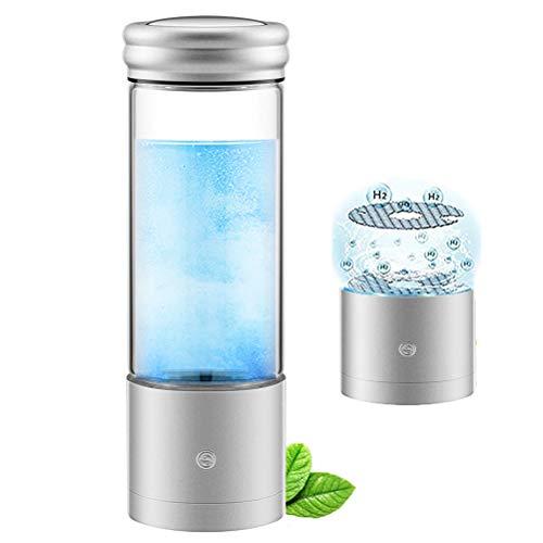 HIMU Wasserstoffflasche, tragbar, wasserstoffreiche Wasserflasche, Ionisierungsflasche, SPE PEM Technologie, USB wiederaufladbar, ionisierter Wassergenerator, Anti-Aging-Antioxidantien-Glasflasche