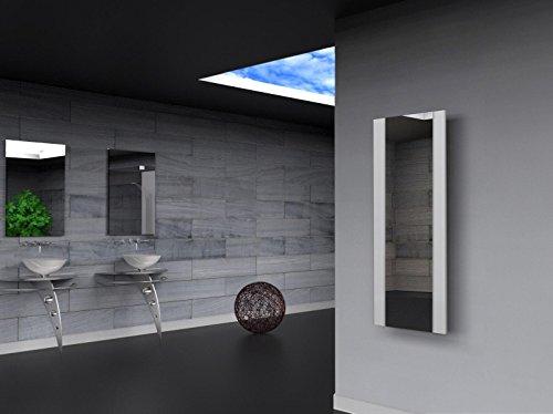 Badheizkörper Design Singapur 2, HxB: 120 x 47 cm, 799 Watt, weiß/Spiegel (Marke: Szagato) Made in Germany/Bad und Wohnraum-Heizkörper (Mittelanschluss Spiegelglas, Echtglas)