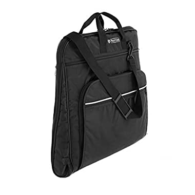 PROTTONI 44  Garment Bag with Shoulder Strap - Carry On Suit Bag - Built in Hook - Multiple Pockets