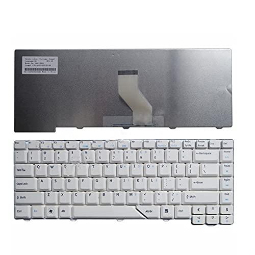 Teclado de Ordenador portátil Estadounidense en inglés para Acer Aspire 5715 5715Z 5720G 5720Z 5720ZG 5910G 5920Z 5920G 5920ZG 5930G 5950G 5730 5730Z (Color : White)