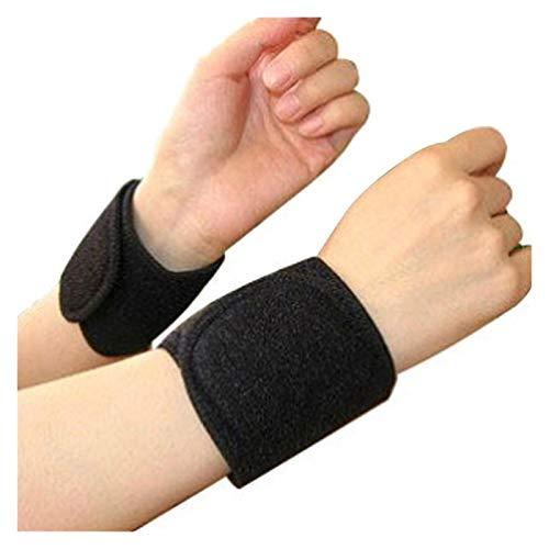 Augus Jacob 1 par de Terapia magnética Alivio de Dolor brazaletes calentados (Color : Bracers One Size)