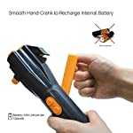 LED Emergency Flashlight Car Window Breaker and Seatbelt Cutter - Hand Crank Charger Water Resistant Multi-Purpose Hand…