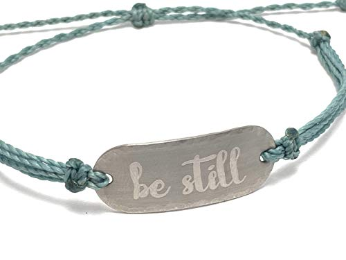 Religious Be Still And Know Waterproof Bracelet For Women And Girls Christian Gifts For Women Inspirational Jewelry For Teen Girls Be Still And Know That I Am God Bracelet Scripture Jewelry
