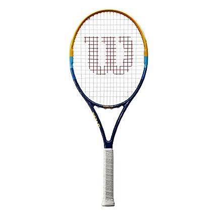 Wilson Raqueta de Tenis, Prime, Unisex, Principiantes y Jugadores intermedios, Azul/Naranja, Tamaño de empuñadura L3