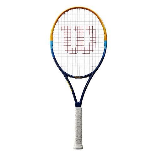Wilson Raqueta de Tenis, Prime, Unisex, Principiantes y Jugadores intermedios, Azul/Naranja, Tamaño de empuñadura L2
