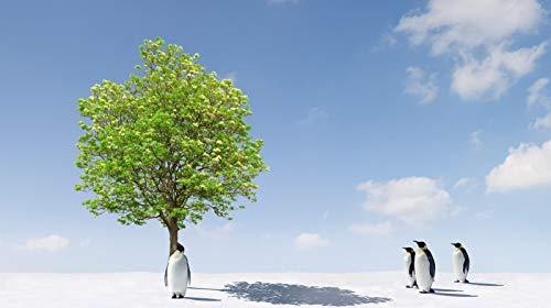 Rompecabezas Para Adultos Pingüinos De 1000 Piezas Descansando A La Sombra De Un Árbol Decoración Para El Hogar Juego De Juguetes Ensamblaje De Madera