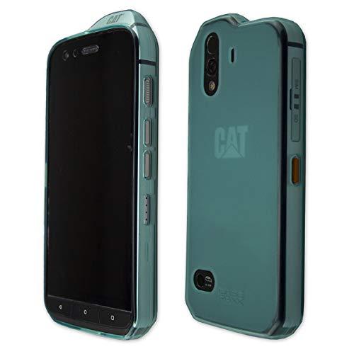caseroxx TPU-Hülle für CAT S61, Handyhülle mit oder ohne Displayschutzfolie in verschiedenen Farben (TPU-Hülle, hellblau)