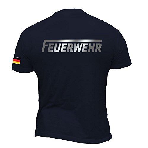 Rescue Point Feuerwehr Herren Kurzarm T-Shirt KF12DE (M)