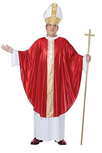 California Costumes Herren Men's The Pope His Divine Holiness, Red/White, Plus Size Kostüme für Erwachsene, rot/weiß, Übergröße