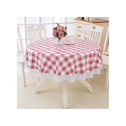KenFandy Paño de Tabla de la Boda del PVC Impermeable Mantel Ronda Mantel Fiesta Mantel Mantel para el hogar Cocina Mantel Mantel, Color H, 137 * 137cm