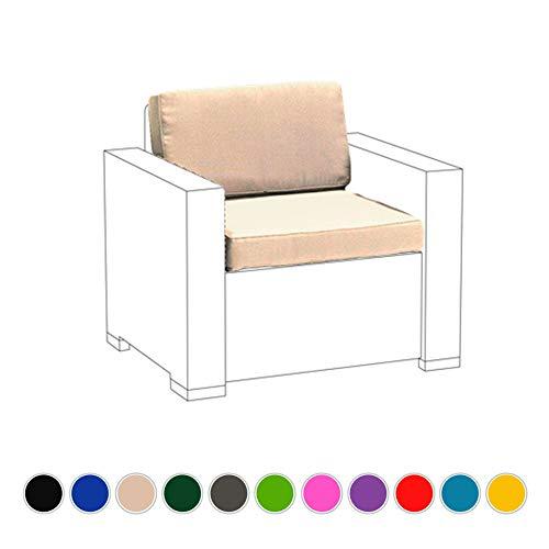 Lot de coussins d'assise de remplacement pour fauteuil extérieur, de Keter Allibert California