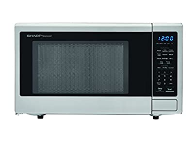SHARP Carousel 1.1 Cu. Ft. 1000W Countertop Microwave Oven with Orville Redenbacher's Popcorn Preset (ISTA 6 Packaging), Cubic Foot, 1000 Watts, Stainless Steel