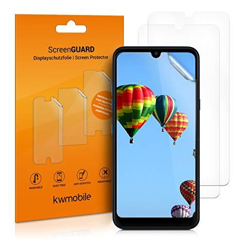 kwmobile Set de 3X película Transparente Compatible con LG Q60 - Pack de Protectores de Pantalla para móvil