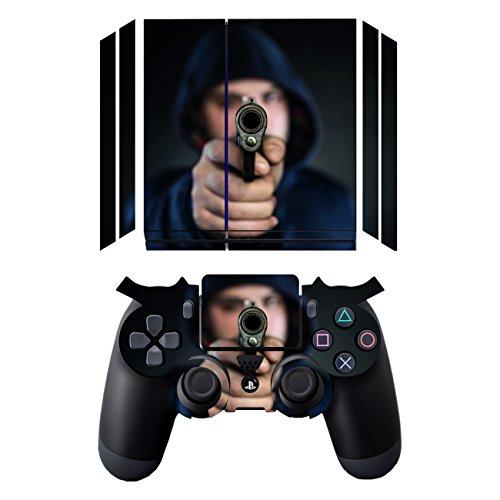 Disagu Design Skin for Sony PS4 liegend + Controller - Motif Mann mit Pistole