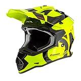 O'NEAL | Casco de Motocross | MX Enduro | ABS Shell, Estándar de Seguridad ECE 2205, Óptima ventilación y refrigeración | 2SRS Youth Helmet Slick | Niños | Negro Neón Amarillo | Talla L