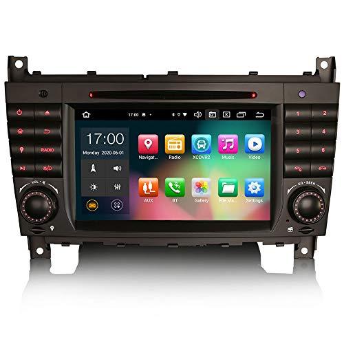ERISIN 7 pollici Android 10.0 Autoradio per Mercedes Benz Classe C/CLK/CLC W209 W203 Supporto GPS Sat Nav DSP Bluetooth Wifi DAB + TPMS Carplay Android Auto 8-Core 4 GB RAM + 64 GB ROM