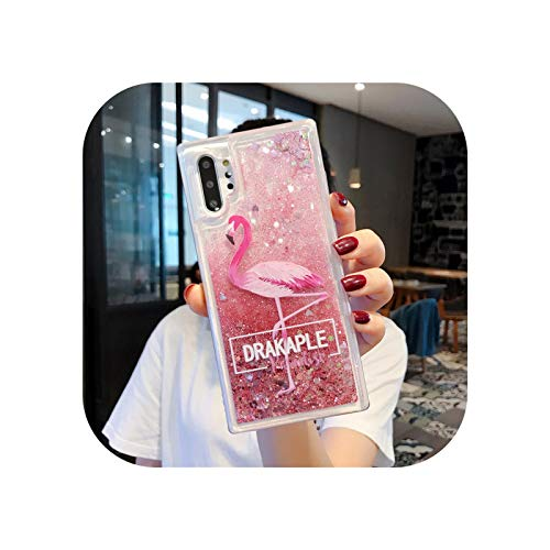 Liquid Quicksand Funda para Samsung Galaxy S20 FE S10 S9 S8 S7 S6 Edge Note 5 8 9 10 20 Plus Pro Ultra Lite 5G Funda de silicona suave Flamingo Big-Note 10 Plus
