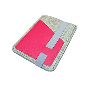 eBook Reader eReader Tablet Hülle Wollfilz, Filz, Leder Farbwahl, Maßanfertigung, z. B. für Tolino Epos